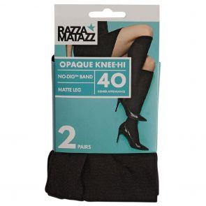 Razzamatazz 40D Opaque Knee Hi 2-Pack H80089 Black Multi-Buy