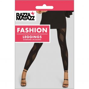Razzamatazz Diamond Jacquard Leggings H80099 Black Multi-Buy