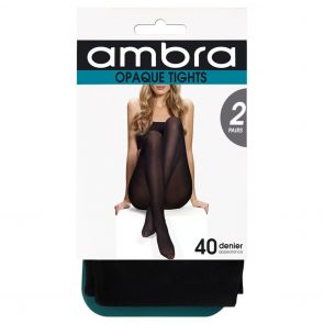 Ambra Tight Opaque 2-Pack 2P40DOPTI Black Multi-Buy