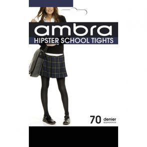 Ambra Opaque Hipster School Tights HIPTI Classic Black Multi-Buy