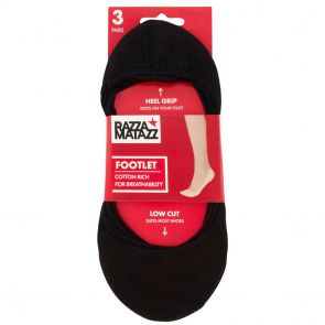 Razzamatazz Footlet 3-Pack HXU63G Assorted Multi-Buy
