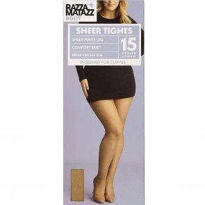 Razzamatazz Body 15D Sheer Tights HXWX1G Natural Multi-Buy