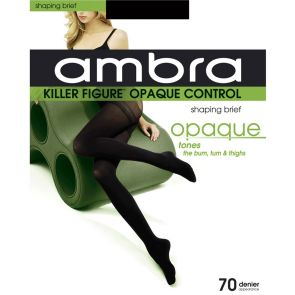 Ambra Killer Figure Opaque Control Tights KILFOP Black Multi-Buy