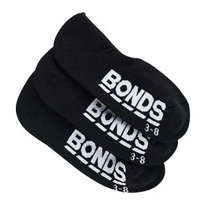 Bonds Womens Active Logo Sneaker 3-Pack LYGC3N Black