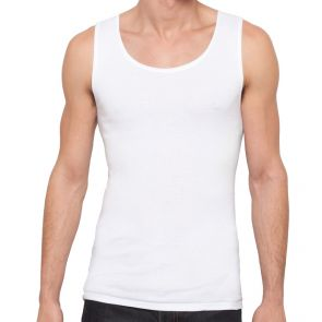 Holeproof Cotton Rib Singlet M1975 White