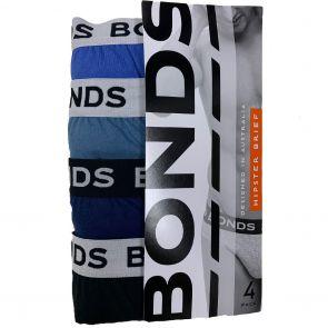 Bonds Elastic Hipster Brief 4-Pack M38DM4 Ocean
