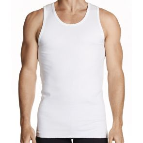 Jockey Classic Athletic Cotton Singlet 2 Pack M96022 White