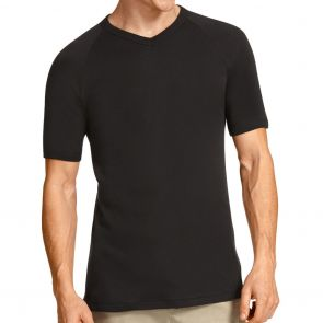 Bonds V Neck Raglan Tee 2 Pack M9762W Black