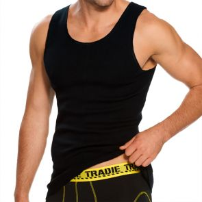 Tradie Big Fella Singlet MJ1959SC Black