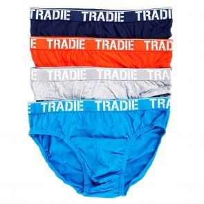 Tradie 4 Pack Brief MJ1195SB4 Kapow
