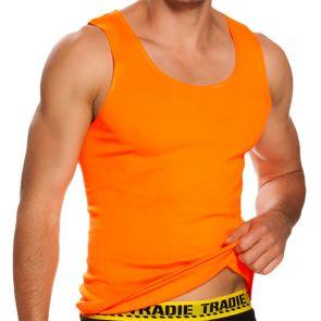 Tradie National Hi Vis Singlet MJ1653SC Orange