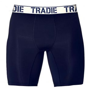 Tradie Big Fella Long Leg Boxer Briefs MJ1955SK Navy and White