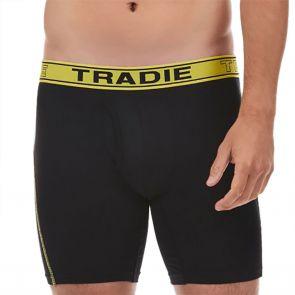 Tradie Quick Dry No Chafe Long Leg Trunk MJ4529SK Black/Yellow