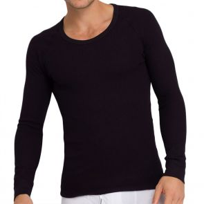 Holeproof Aircel Thermal Long Sleeve Tee MYPU1A Black