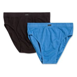 Holeproof Cotton Mock Rib Brief 2-Pack MZZX2A Blue and Black