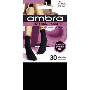 Ambra No Band Anklets 2-Pack NOB2PANK Black Multi-Buy