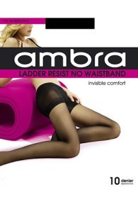 Ambra Ladder Resist No Waistband Tights NOWAB Natural Multi-Buy