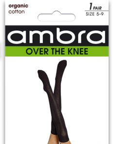 Ambra Organic Cotton Cable Over The Knee AORGCCOTK Black Multi-Buy