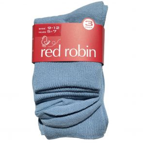 Red Robin Delight Turnover Socks 3-Pack R10093 Saxe