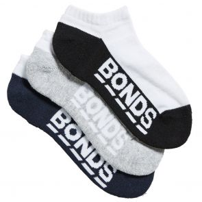 Bonds Kids Logo Low Cut Sport Socks 3-Pack R5093N White