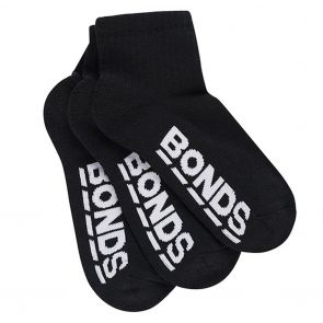 Bonds Logo Original Quarter Crew 3-Pack RYEH3N Black