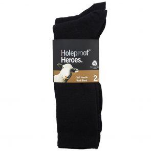 Holeproof Rib Wool Bus S10012 Black