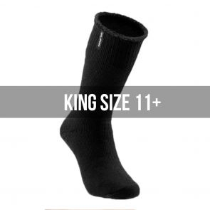 Explorer Wool Blend King Size Long Socks S1137P Black