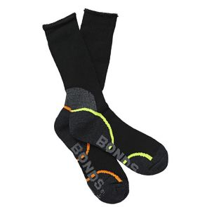 Bonds Acrylic Work Sock 2PK Black S8697D Multi-Buy