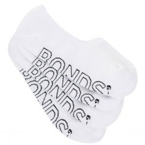 Bonds Mens Logo Light Sneaker Socks 4-Pack SYAM4N White