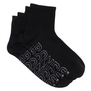 Bonds Logo Light Quarter 4 Pack Socks SYAQ4N Black