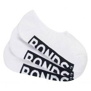 Bonds Logo Sneaker 3 Pack Socks SYAT3N White