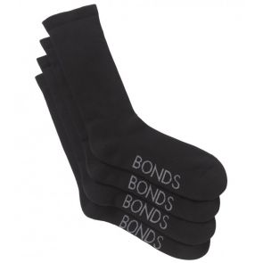 Bonds Mens Very Comfy Crew 2PK SZFP2N Black