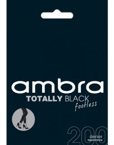 Ambra 200D Totally Black Footless Tights ATOBLFTLS Black Multi-Buy