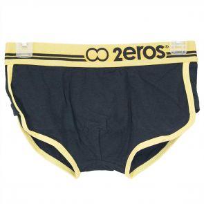 2EROS Cotton Brief U05.06 Black/Yellow