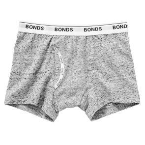 Bonds Boys Guyfront Trunk UYHN1A Granite Marle