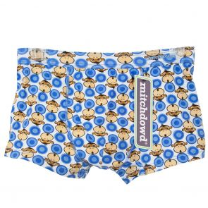 Mitch Dowd Fitted Hipster Trunk V136 Blue Monkey