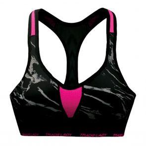 Tradie Lady Active Bra WJ2855SR Marble Hot Pink