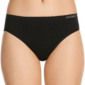 Jockey Women Everyday Seamfree Hi Cut Brief WWWU Black