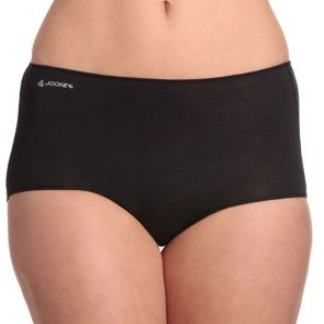 Jockey No Panty Line Promise Next Generation Cotton Full Brief WXVX Black