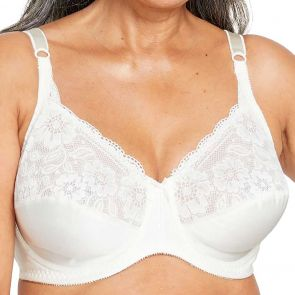 Berlei Curves Classic Lace Underwire Bra Y5568B Alabaster