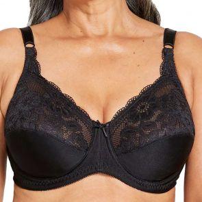 Berlei Curves Classic Lace Underwire Bra Y5568B Black