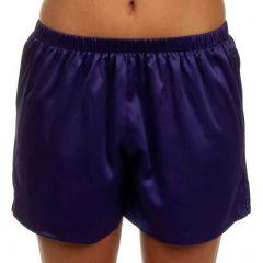 Bassoni Satin Short 7028S Purple Womens Sleepwear