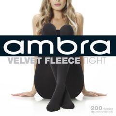 Ambra Velvet Fleece Tight 200 Denier AMVELFLCTI Black Womens Hosiery