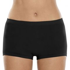 Ambra Seamless Singles Boyleg Brief AMSSBOY Black Womens Underwear