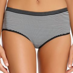 Ambra Seamless Singles Midi AMSSSMID Black/White Womens Underwear