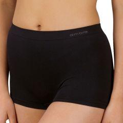 Ambra New Bodysoft Boyleg Brief AMUWBTQBL Black Womens Underwear