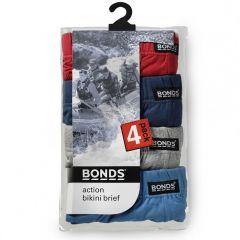 Bonds Action Hipster Brief 4 Pack M8OS4 Multi Mens Underwear