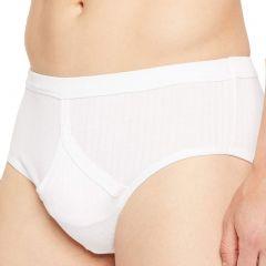 Jockey Comfort Rib Y-Front Brief M9110G White Mens Underwear