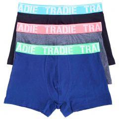 Tradie 3 Pack Fitted Trunks MJ1194WK3 Burst Mens Underwear