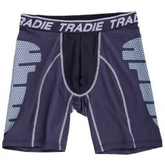 Tradie Tech Long Leg Trunk MJ1483SK Black / Charcoal Mens Underwear